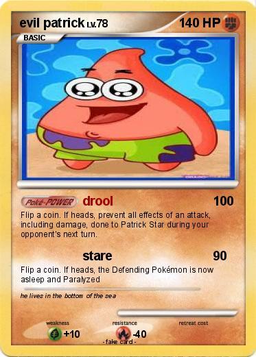 pokémon evil patrick 4 4 drool my pokemon card
