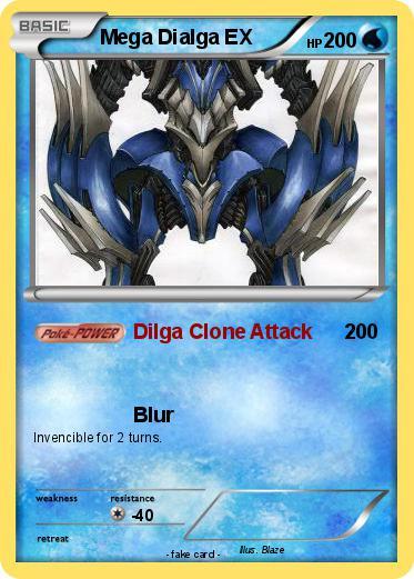 Pokémon Mega Dialga EX 9 9 - Dilga Clone Attack - My ...