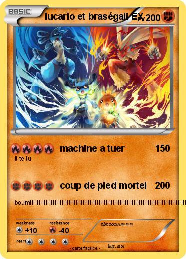 Pok mon lucario et brasegali ex machine a tuer ma - Coloriage pokemon brasegali ...