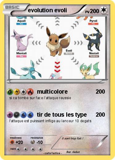 Pok mon evolution evoli 6 6 multicolore ma carte pok mon - Evoli blanc 2 ...