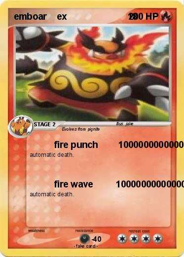 Pokémon emboar ex 18 18 - fire punch ...