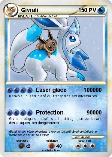 Pok mon givrali 137 137 laser glace 100000 ma carte pok mon - Givrali pokemon ...