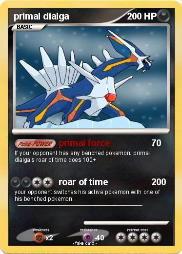 pokémon primal dialga 234 234 primal force my pokemon card