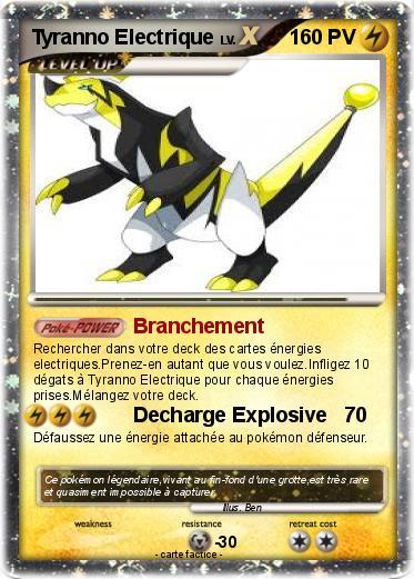 Pok mon tyranno electrique branchement ma carte pok mon - Pokemon legendaire diamant ...