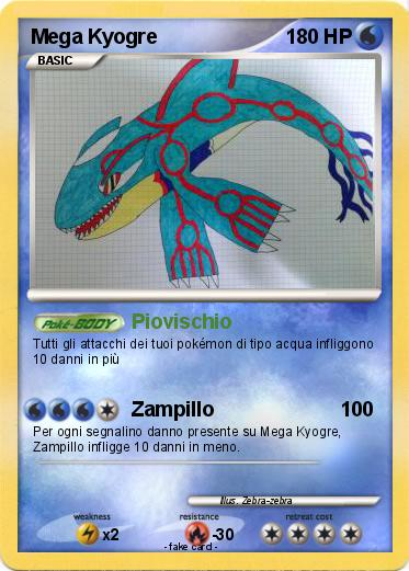 Pokémon Mega Kyogre 2 2 - Piovischio - My Pokemon Card