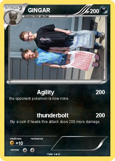 Pokémon Gingar 3 3 Agility My Pokemon Card