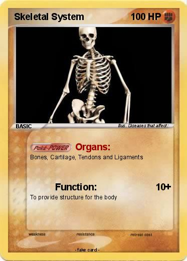 Pokmon Skeletal System 1 1 Organs My Pokemon Card