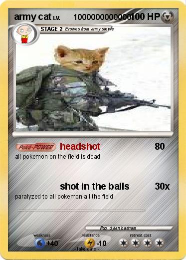 Pokémon army cat 7 7 - headshot - My Pokemon Card