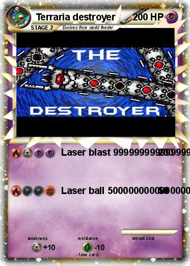 Pok 233 Mon Terraria Destroyer Laser Blast