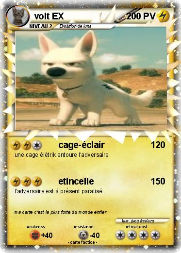 Pok mon volt ex 2 2 cage clair ma carte pok mon - La plus forte carte pokemon du monde ...