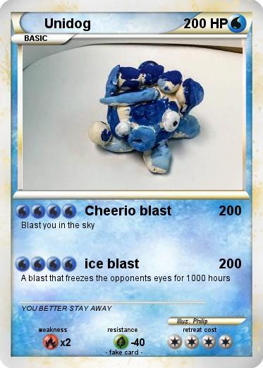 Pokémon Unidog 4 4 - Cheerio blast - My Pokemon Card