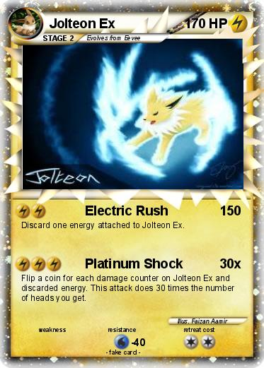 Pokémon Jolteon Ex 9 9 - Electric Rush - My Pokemon Card