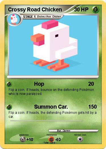 Pokmon Crossy Road Chicken Hop My Pokemon Card - crossy road coloring pages