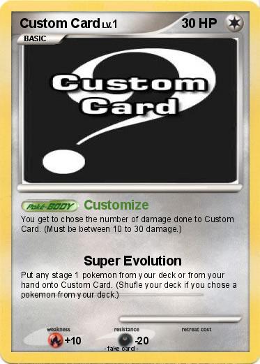 pokémon custom card customize my pokemon card