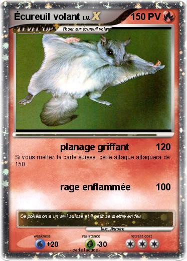 Coloriage Ecureuil Volant.Pokemon Ecureuil Volant 2 2 Planage Griffant Ma Carte Pokemon