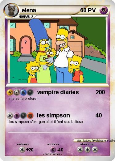 Pok mon elena 38 38 vampire diaries ma carte pok mon - Coloriage vampire diaries ...