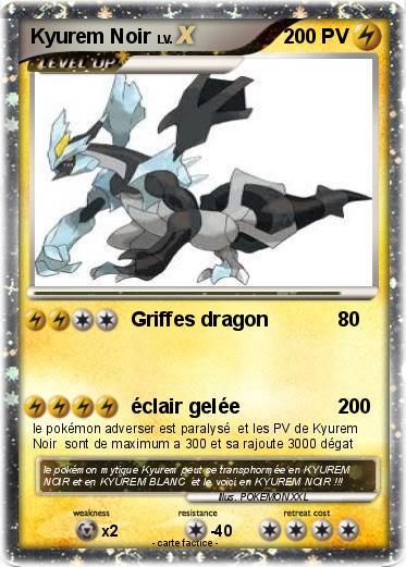 Pok mon kyurem noir 325 325 griffes dragon ma carte - Pokemon kyurem noir ...