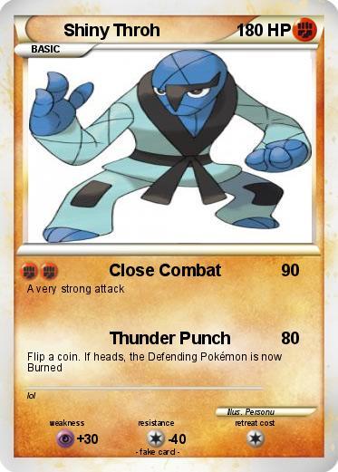 Shiny Sawk Pokémon Shiny Saw...