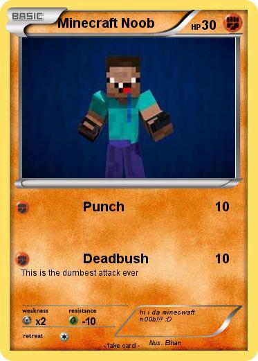 Pok 233 Mon Minecraft Noob 14 14 Punch My Pokemon Card