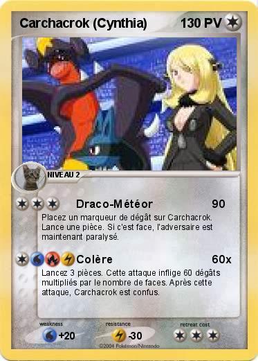 pokemon carchacrok cynthia - Pokemon Carchacrok