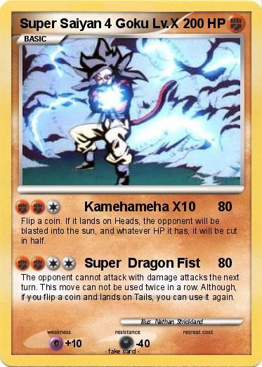 Pokémon Super Saiyan 4 Goku Lv X - Kamehameha X10 - My ...