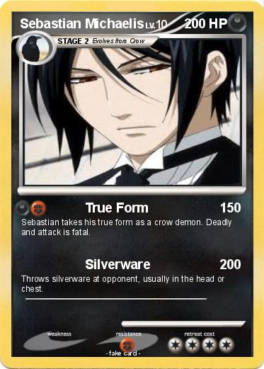 Pokémon Sebastian Michaelis 32 32 - True Form - My Pokemon Card