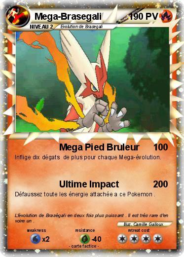 Pok mon mega brasegali 16 16 mega pied bruleur ma carte pok mon - Pokemon a imprimer mega evolution ...