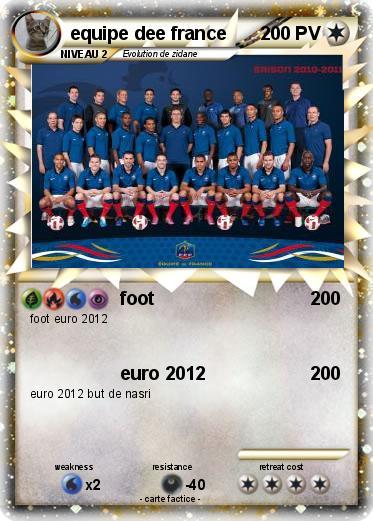 Pok mon equipe dee france foot ma carte pok mon - Dessin de foot france ...
