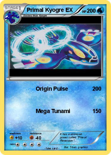 Primal Kyogre pokémon primal kyogre ex 45 45 - origin pulse - my pokemon card
