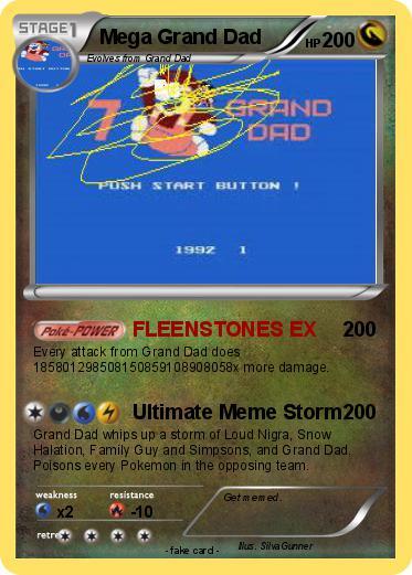 643d7a8d Pokémon Mega Grand Dad - FLEENSTONES EX - My Pokemon Card