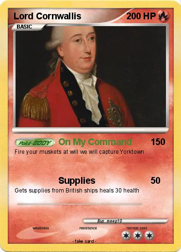 pokémon lord cornwallis 1 1 on my command my pokemon card