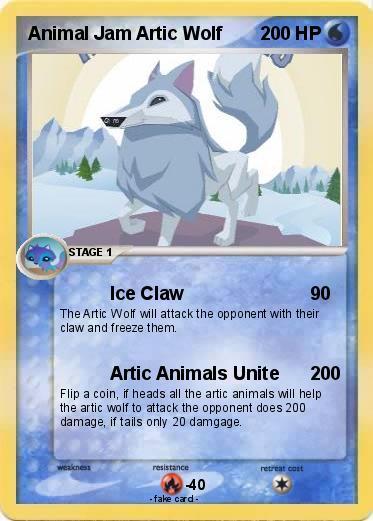 Pokemon Animal Jam Artic Wolf