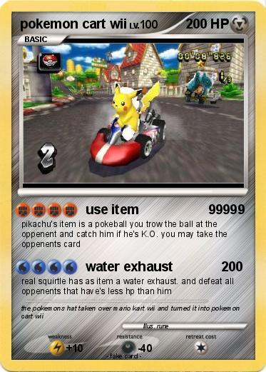 Pok 233 Mon Pokemon Cart Wii Use Item 99999 My Pokemon Card