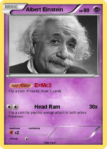 Pokémon Albert Einstein 87 87 - E=Mc2 - My Pokemon Card