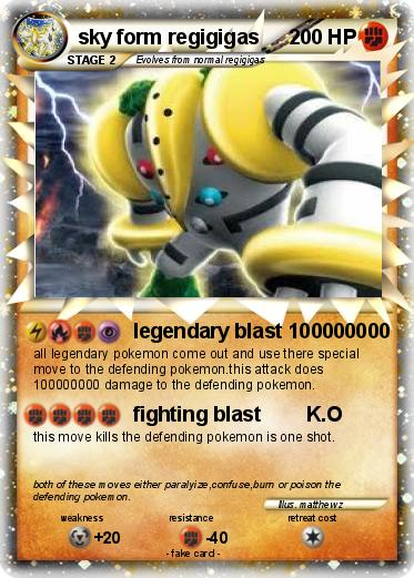 Pokémon regigigas 907 907 - legendary blast 100000000 - My Pokemon ...