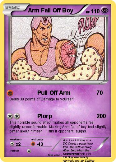 pok u00e9mon arm fall off boy - pull off arm