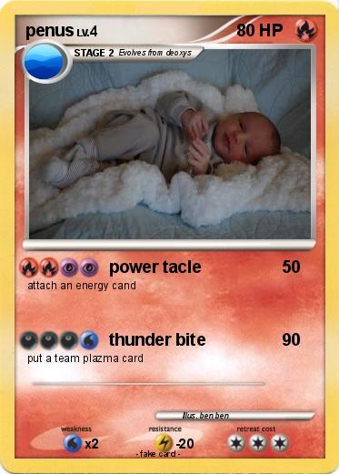 Pok 233 Mon Penus 4 4 Power Tacle My Pokemon Card