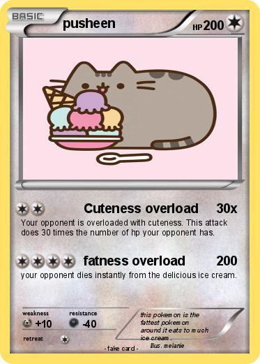 Pok Mon Pusheen Cuteness Overload Pokemon Card