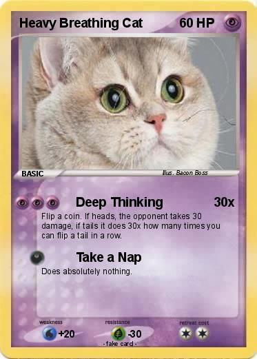 pokémon heavy breathing cat deep thinking my pokemon card