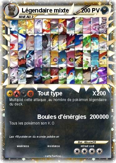 Pok mon legendaire mixte tout type x ma carte pok mon - Tout les carte pokemon ex du monde ...