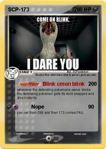 Pok 233 Mon Scp 173 68 68 Blink Cmon Blink My Pokemon Card