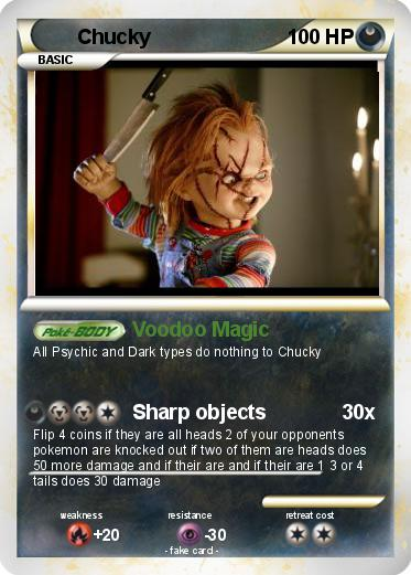 Pokémon Chucky 284 284 - Voodoo Magic - My Pokemon Card