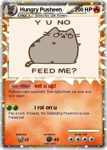 Pok mon Hungry Pusheen eet u