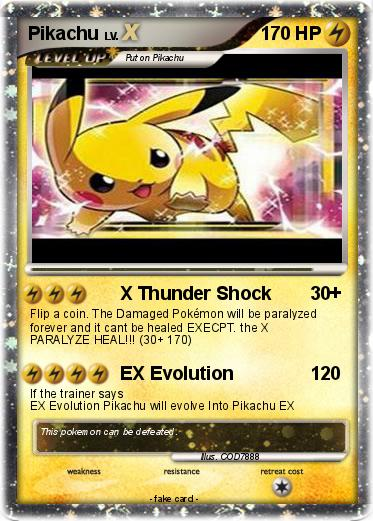 Pokémon Pikachu Gx 2 2 X Thunder Shock My Pokemon Card