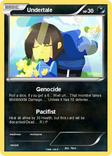 Pok 233 Mon Undertale Genocide My Pokemon Card