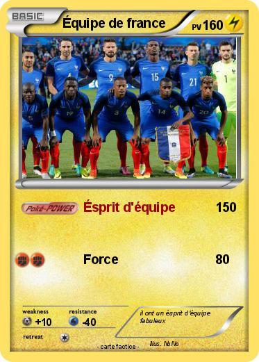 Pok mon equipe de france 36 36 sprit d 39 quipe ma carte pok mon - Dessin de foot france ...