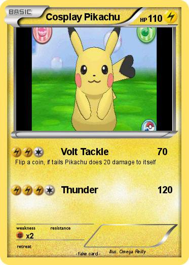 Pokemon Cosplay Pikachu 1 1 Volt Tackle My Pokemon Card