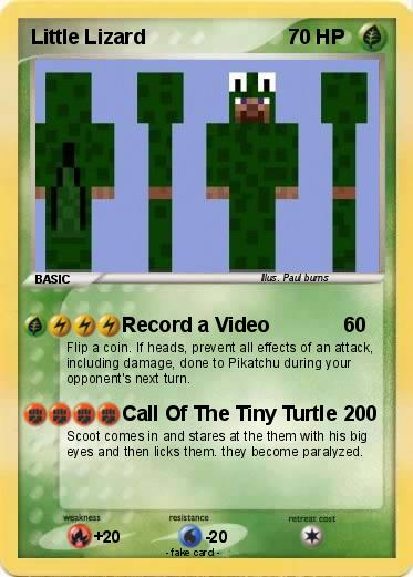 Pok 233 Mon Little Lizard Record A Video My Pokemon Card