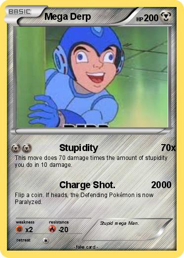 Pokémon Mega Derp 14 14 Stupidity 70x My Pokemon Card