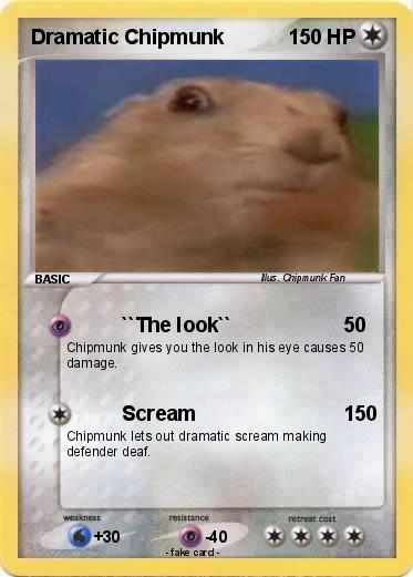 Pokémon Dramatic Chipmunk 24 24 - ``The look`` - My Pokemon Card